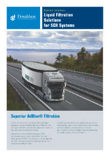 Urea Filtration for SCR Systems Brochure